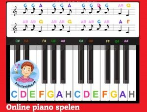 Online piano spelen door kleuters  op digibord of computer  op kleuteridee