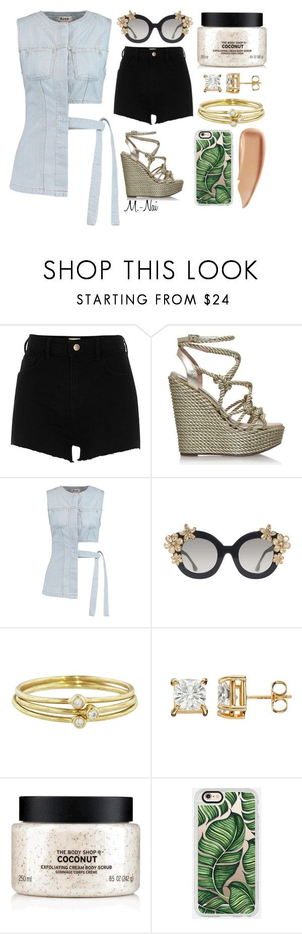 """Tourist"" by naimullins on Polyvore featuring River Island, KG Kurt Geiger, Acne Studios, Alice + Olivia, Jennifer Meyer Jewelry, The Body Shop, Casetify and Sisley"