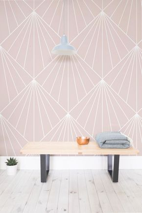 Pink Art Deco Wallpaper Mural Muralswallpaper Art Deco Wallpapet - Home-design-wallpaper