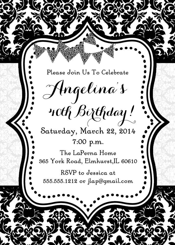 28 best Birthday Invitations images on Pinterest | Birthday ...