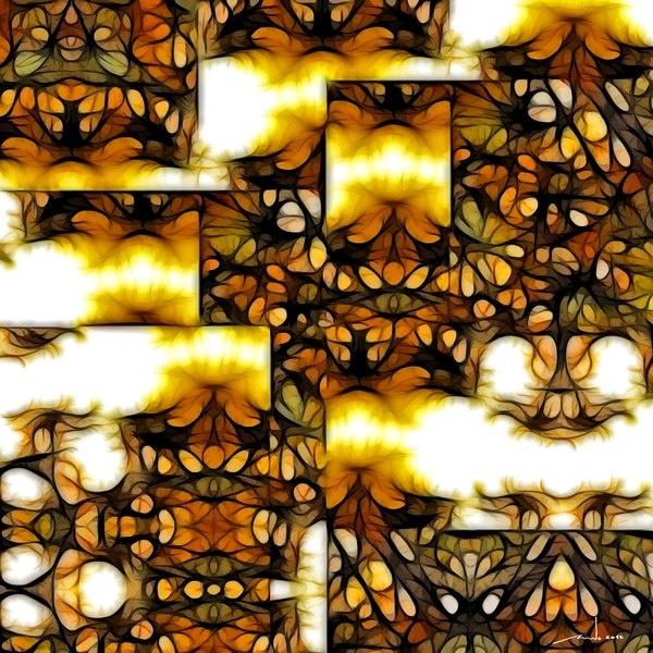 Sulphur Clouds   Digital Artwork over original photo 50 x 50 cm  rcn