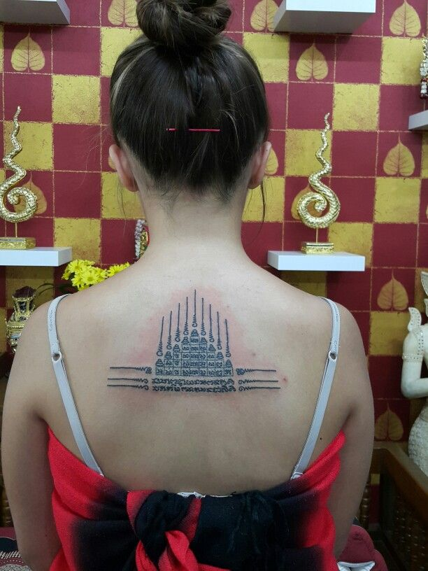 #traditional thai tattoo#done by bangkok ink#
