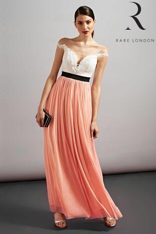 Rare flower applique maxi dress