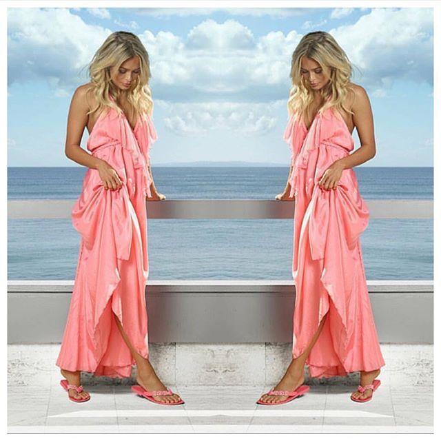 Everything is prettier in pink. @michaelawain wearing Lisa Brown Poppy Dress and @holsterfashion Pandora Jelly Slip-ons.❤️ #lisabrowndesigns #lisabrown #dress #poppydress #boho #bohodress #bridesmaiddress #bridesmaiddresses #weddingdress #weddingplanning #weddinginspiration #bridesmaid #bridestory #weddingideas #weddingstyle #weddingseason
