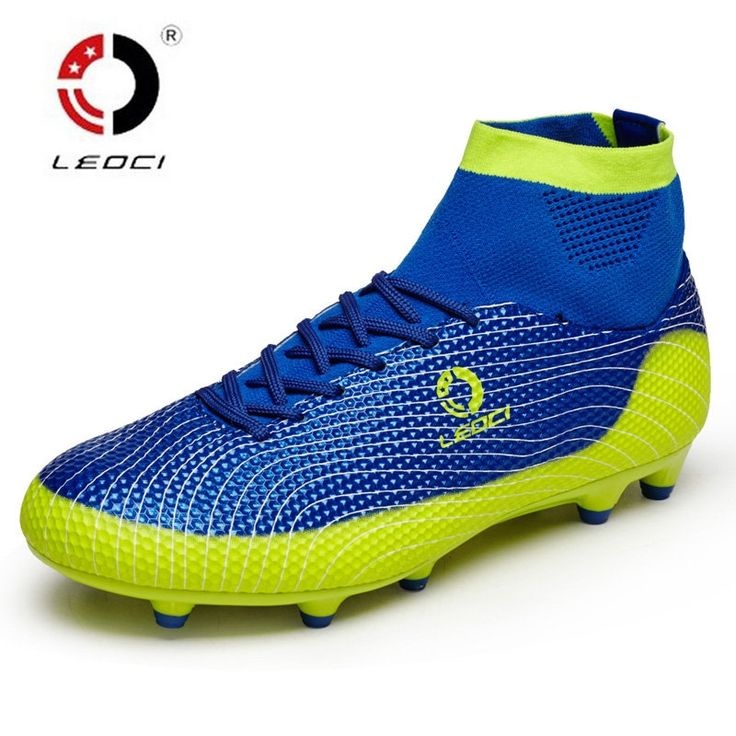 27.45$  Buy here - http://alizax.shopchina.info/1/go.php?t=32751345479 - New Men Soccer Cleats For Adults Kids Turf Football Boots AG Football Shoes High Ankle Chuteira Futebol Brand Male Soccer Shoes  #aliexpress