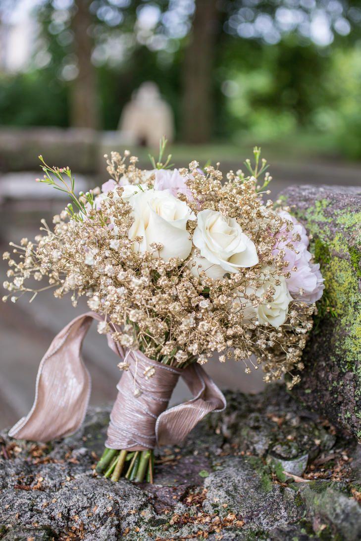 Gold Baby S Breath Centerpiece : Best ivory rose bouquet ideas on pinterest white