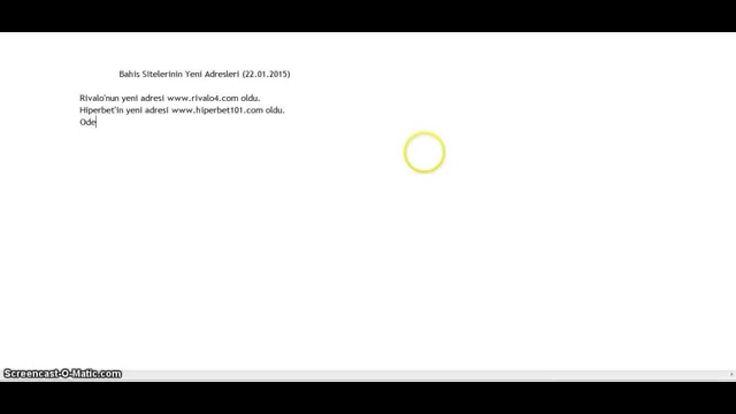 Son erişim engellemlerinin ardından adres değişikliği yapan bahis sitelerini bu videoda bulabilirsiniz.