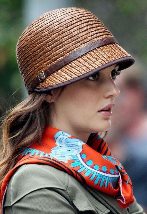 Modern cloche straw hat