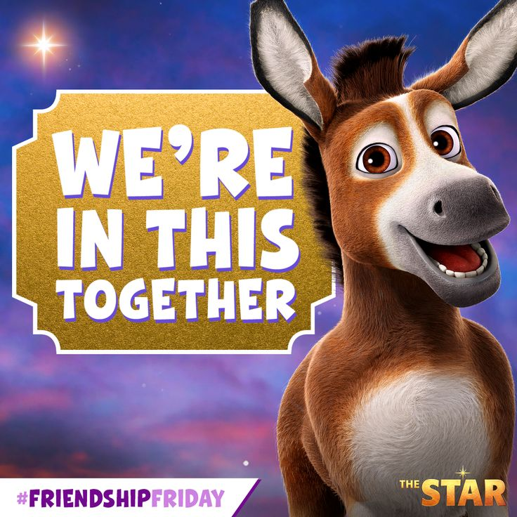 We're in this together! #FriendshipFriday #TheStarMovie