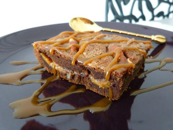 Supremes Brownies Caramel Pecan