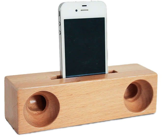 Деревянные спикер усилитель звука Стенд док-станция для SmartPhone