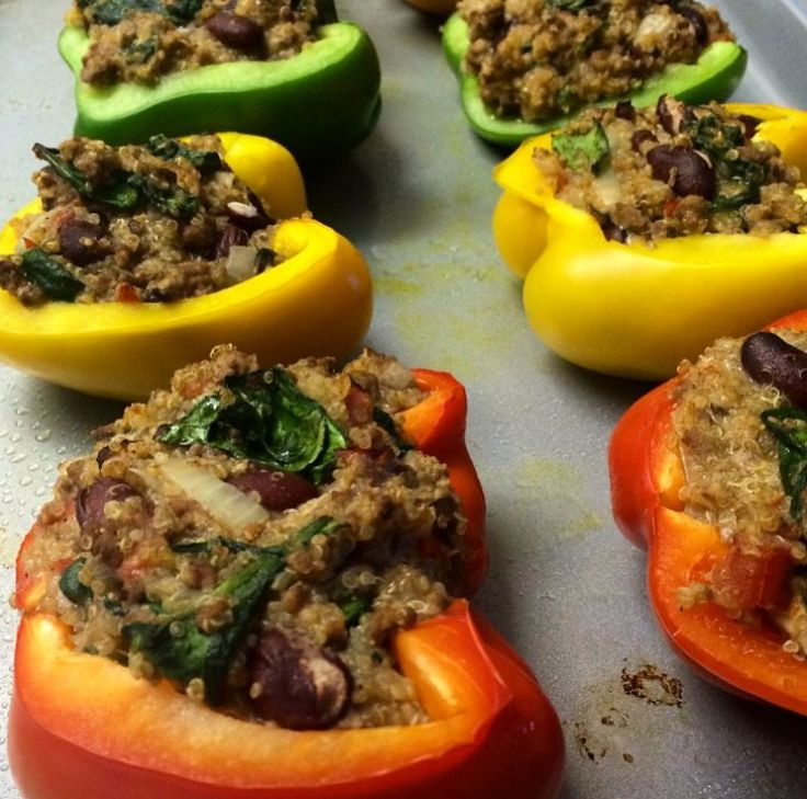 Quinoa, Bean and Vegetable Stuffed Peppers