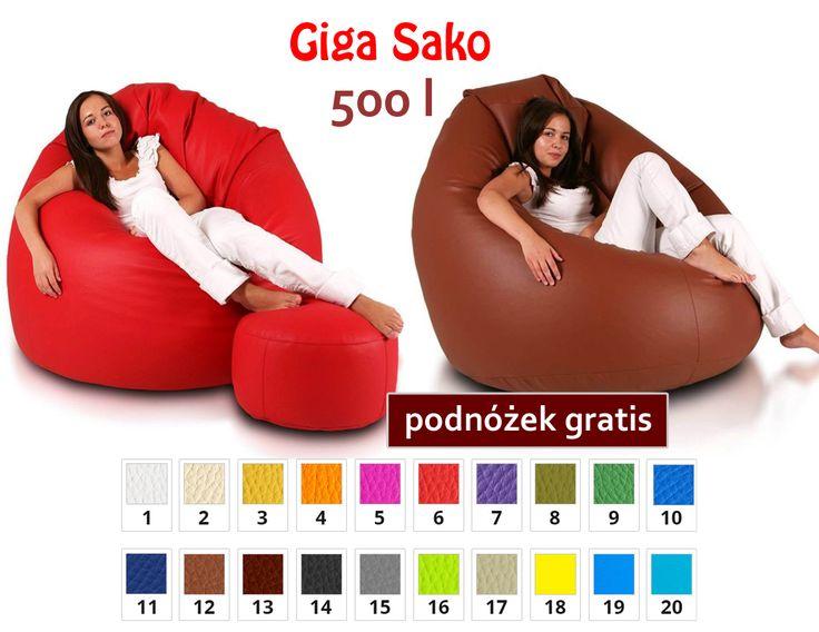 Niezwykle wygodne pufy o pojemności 500l. Podnóżek sprawia, że jest jeszcze wygodniej. Który kolor wybrałbyś do swojego salonu? :)  Super cena- >>> 225,00 zł  http://pufy.pl/worki-sako/114-giga-sako.html  #pufy #sako #gigasako #odpoczenek #leniuchwanie #relax #chillout #wnętrze #poduchy #fotele #dzieci #dodatki #wygoda #komfort