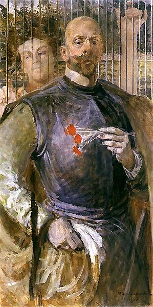 Jacek Malczewski - Self-portrait (1905) with muse