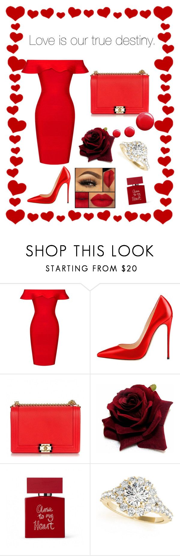 """Valentine 's Day Special"" by iamkritika ❤ liked on Polyvore featuring Posh Girl, Chanel, Bella Freud and Topshop"