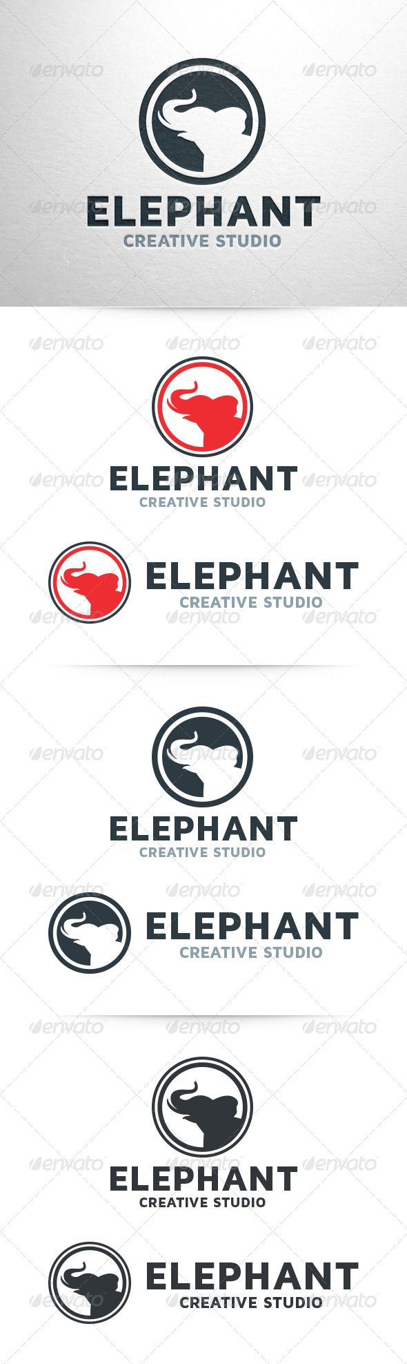 Elephant Logo Template — Vector EPS #logo #studio • Available here → https://graphicriver.net/item/elephant-logo-template/6537254?ref=pxcr
