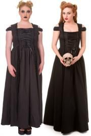 Daysleeper Long Black Gothic Dress by Banned