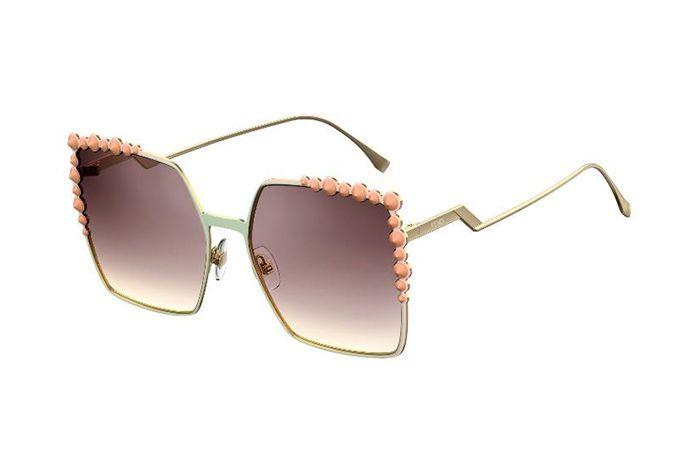 フェンディ 17年春夏の新作サングラス「キャナイ」スクエアフレームにシースルー×ミラーのレンズ | ファッションプレス