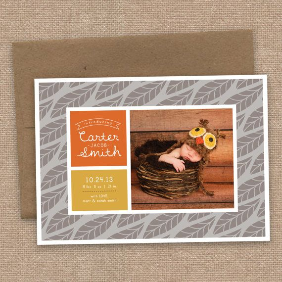 26 best Baby Birth Announcements images – Fall Birth Announcements
