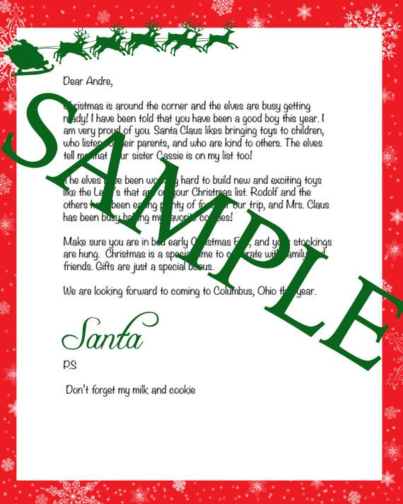 Personalized letter from Santa on Etsy, $5.99