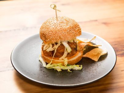 The 25 best chicken sandwich recipe food network ideas on fried chicken sandwich with sriracha aioli and asian slaw forumfinder Choice Image