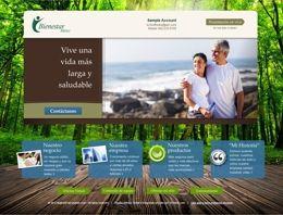 Lead generating website created for BienestarMexico.com Rafael Rojas for Melaleuca Inc. Network Marketing
