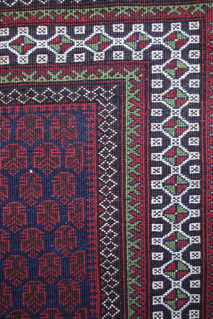 Handmade Woolen Carpet BELUTCH 0,91x 1,48 cm  ( part of carpet) | ioakeimidis