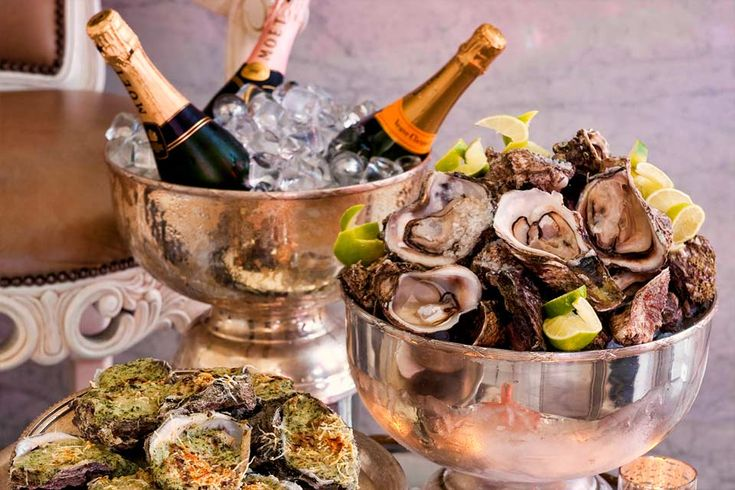 champagne and oysters | ... that both the champagne and oysters are chilled properly the