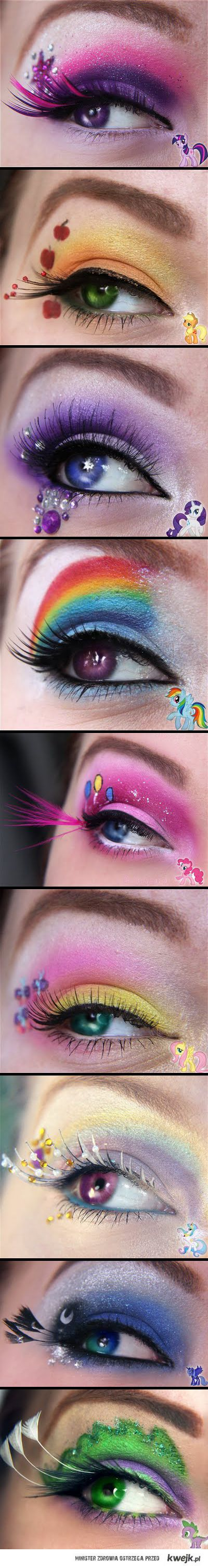 These are so flipping cute!: Pony Eye, Eye Makeup, Mylittlepony, Eyeshadow, Ponies, My Little Pony, Eyemakeup, Pony Makeup