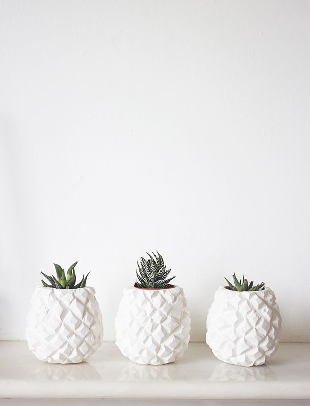 Pineapple Pots. - love these! So simple but so cute. Great for the minimalistic home owner