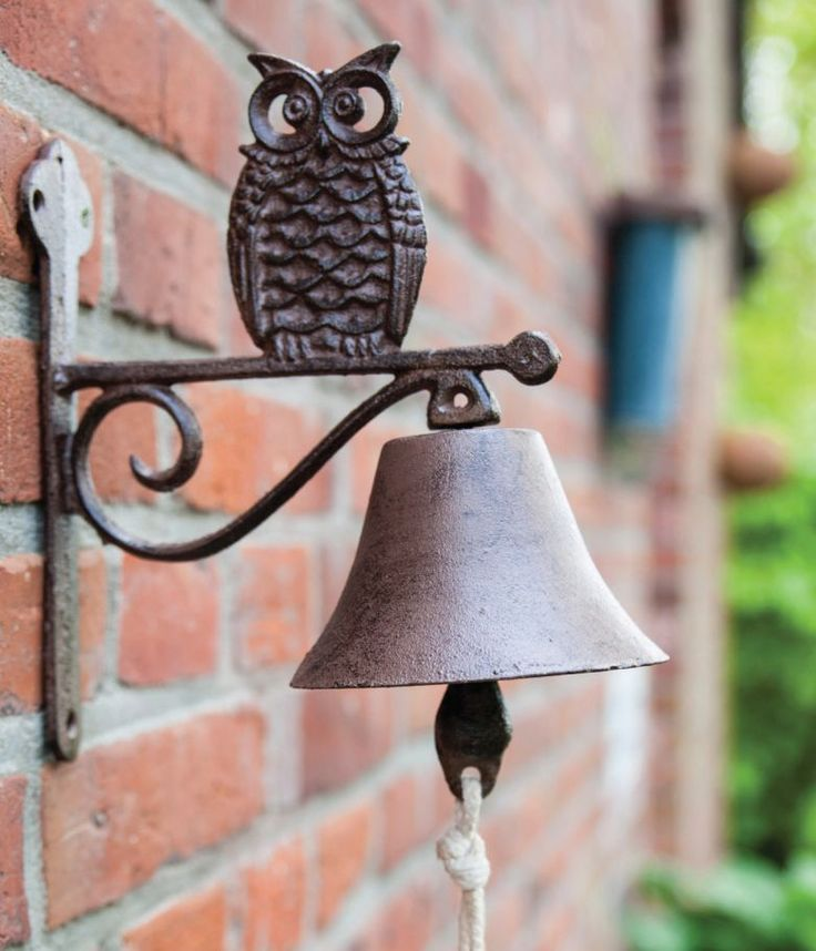 House2Home Antik Döküm Koleksiyon - Baykuş Kapı Çanı
