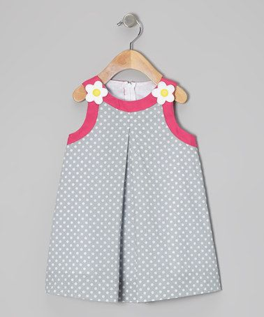 Take a look at this Light Blue Polka Dot Swing Dress - Toddler & Girls by Katie & Co. on #zulily today!