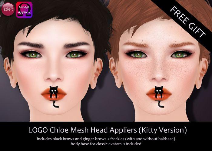 Izzie's - LOGO Chloe Mesh Head Appliers (Kitty Version)