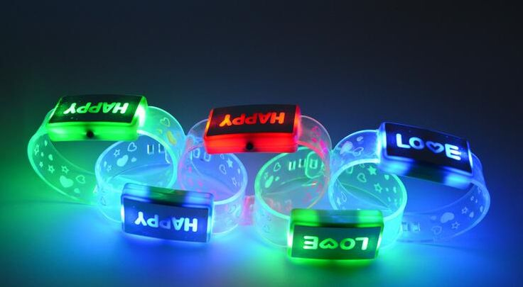 remote controlled led wristbands