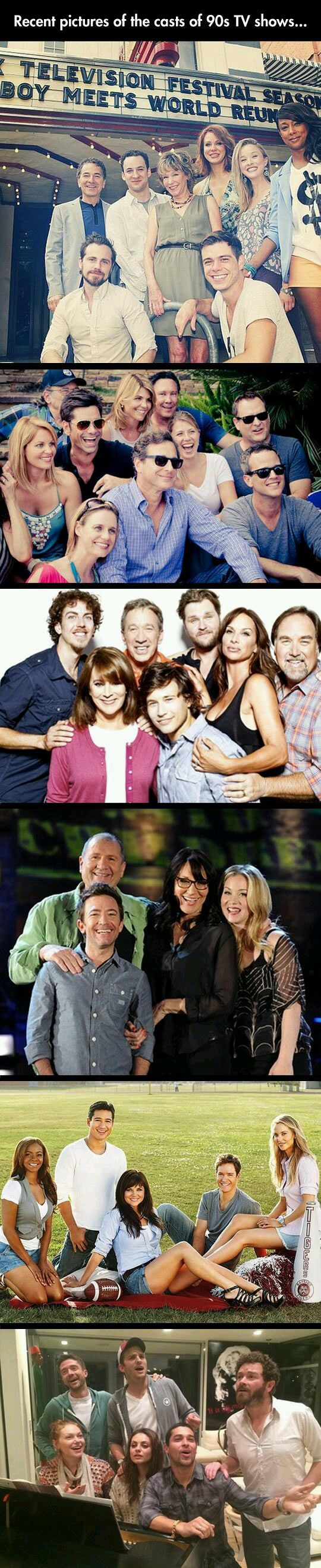 Updated tv show reunions