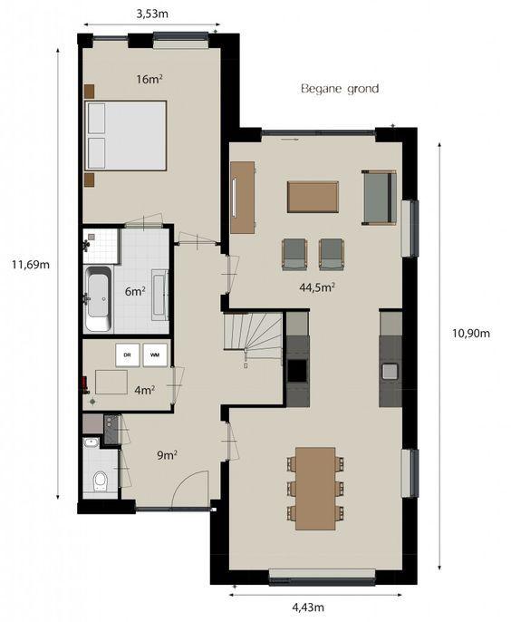 Afbeeldingsresultaat voor levensbestendige woning plattegrond