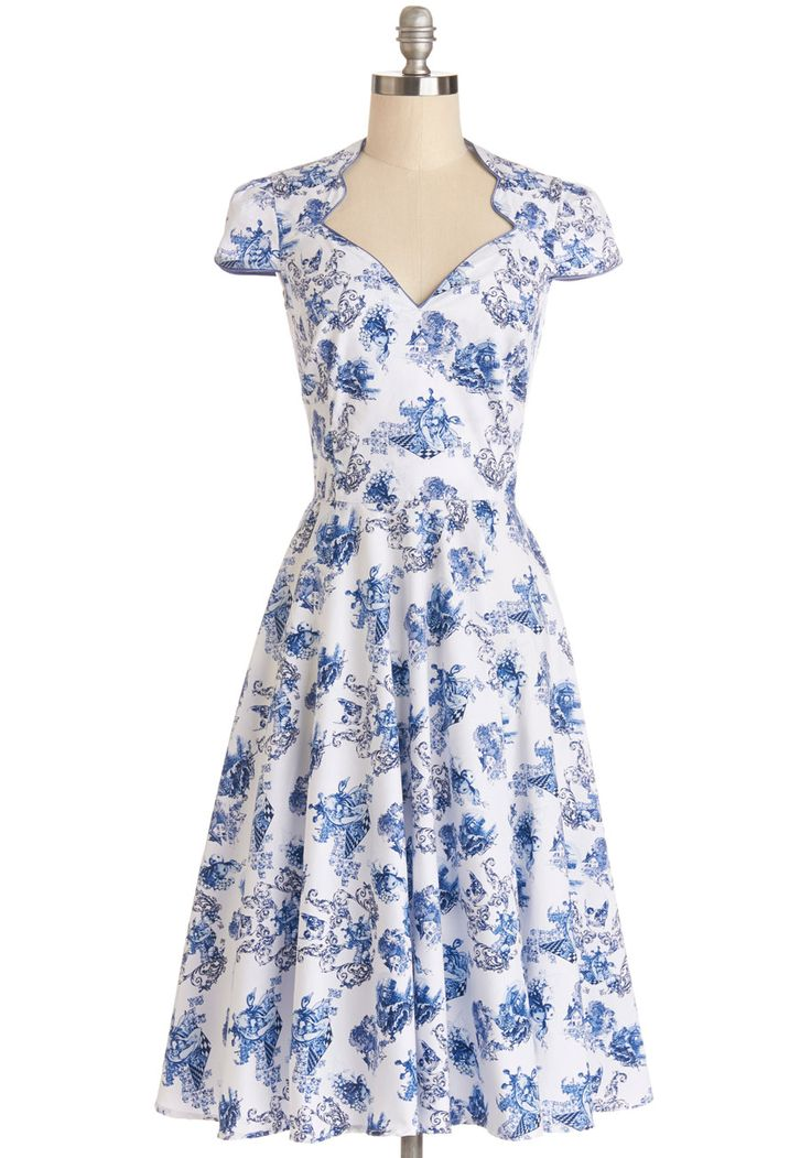 Toile or Nothing Dress | Mod Retro Vintage Dresses | ModCloth.com