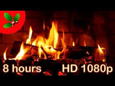 8 Hours Christmas Music Instrumental Fireplace Yule Log