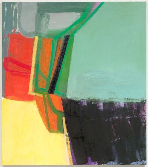"""Amy Sillman  Oil on Canvas  51"""" x 45"""""""