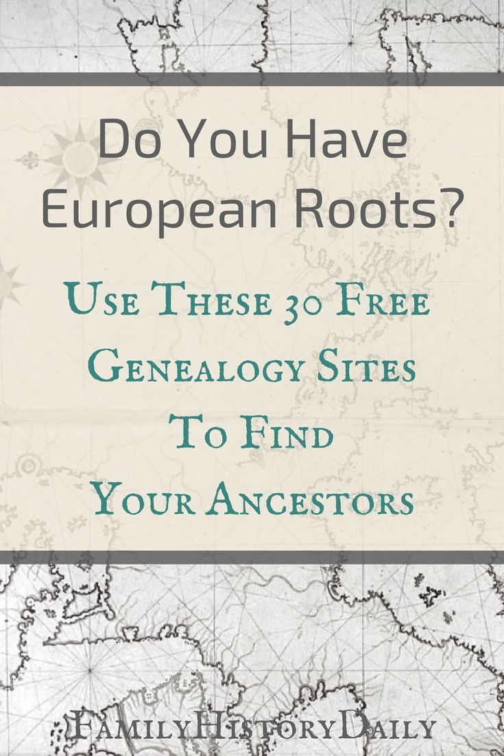 Have European ancestry? We've put together a list of 30 free research sites that will help you grow your family tree. Find free records from various locations in Europe or search by country with our free genealogy site finder, doGenealogy. #freegenealogy
