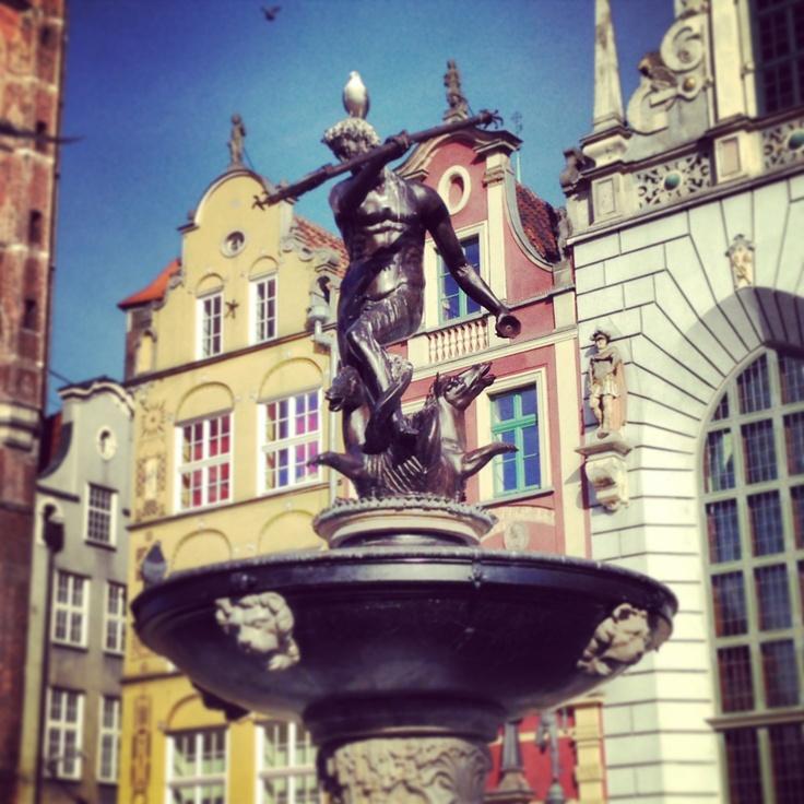 Neptune's Fountain, Gdansk, Poland