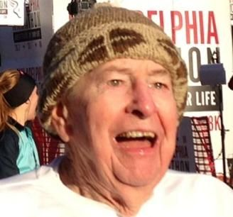 88 year old Hugh Campbell holds national running records after staring to run at 87 years old. Photo:Island Photography