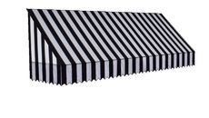 3D Model of Black and White Striped Awning