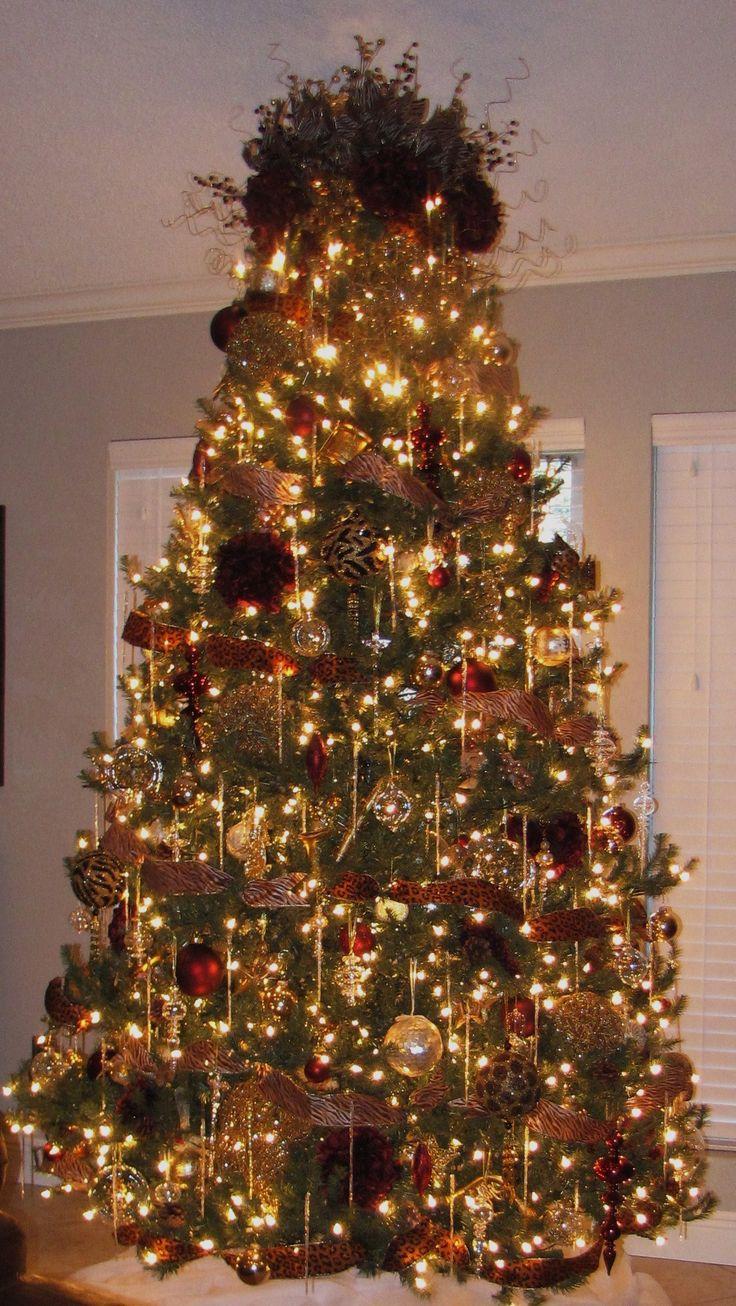 Gold and burgundy tree  Christmas Trees  Christmas