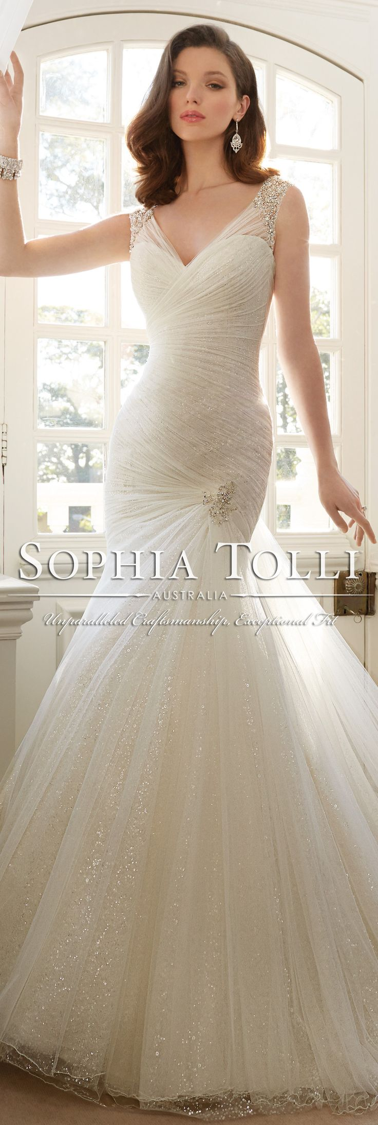 The Sophia Tolli Spring 2016 Wedding Dress Collection - Style No. Y11640 - Candace #trumpetweddingdress