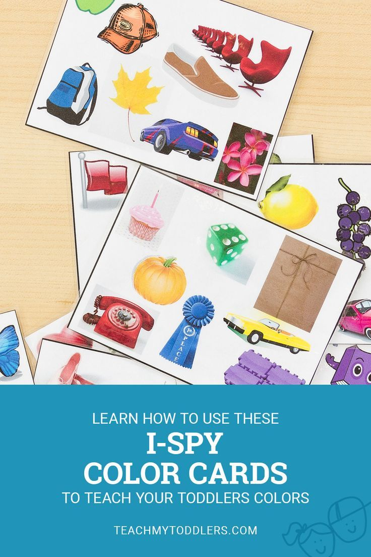 Discover how to use these I-Spy color cards to teach your ...