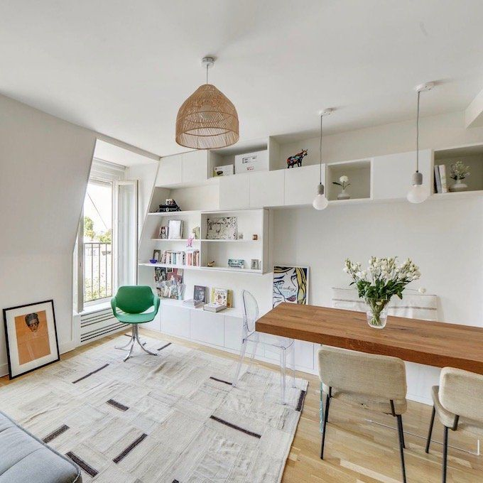 Visite Deco Vivre En Famille Dans Un 37m2 Appartement Paris Petit Espace Amenagement Petit Appartement