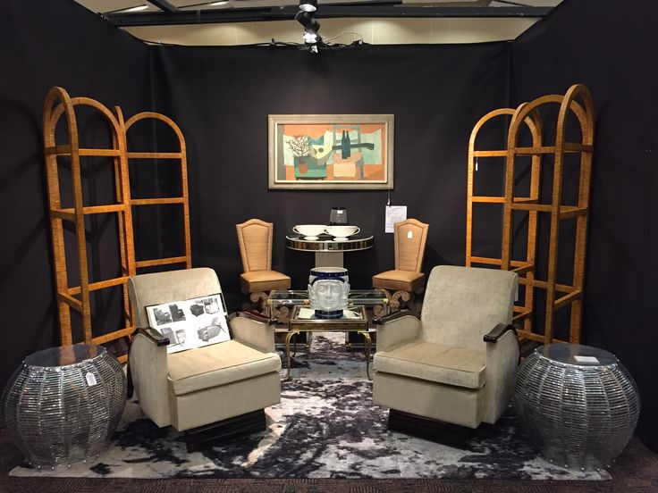 Booth #2 adjacent to booth #1 at the Palm Springs, California Modernism show Feb 2016.