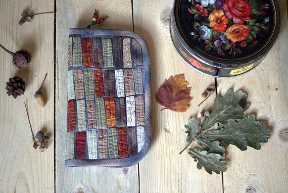 Handmade Wallet  Long travel Wallet Womens card Wallet Fabric