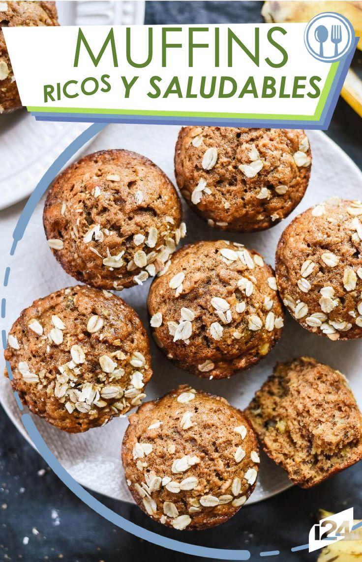 Disminuye la ansiedad con este muffins saludable a base de banana. #Recetas #Adelgazar